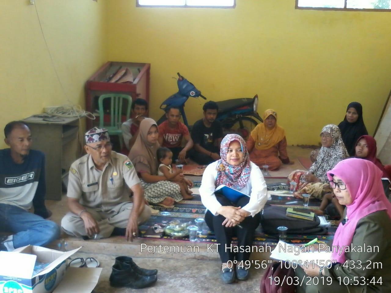 Pertemuan Kelompok Hasanah Nagari Panyakalan