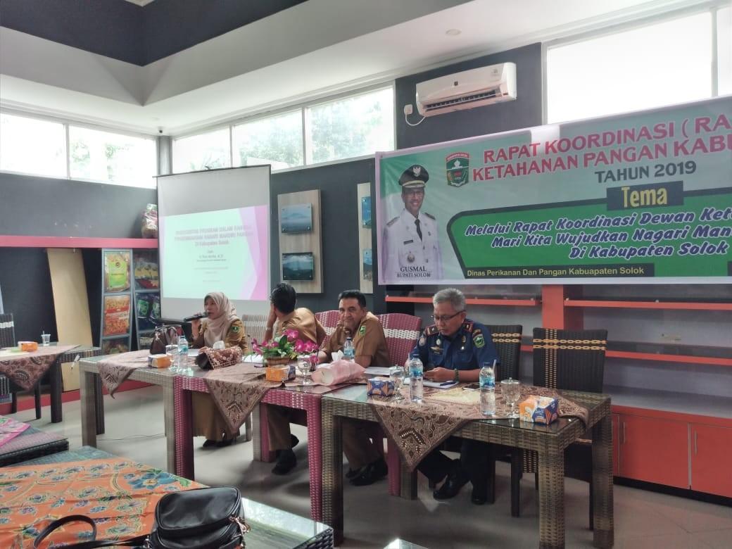 Rakor Dewan Ketahanan Pangan Kabupaten Solok Tahun 2019 di Gedung Promosi