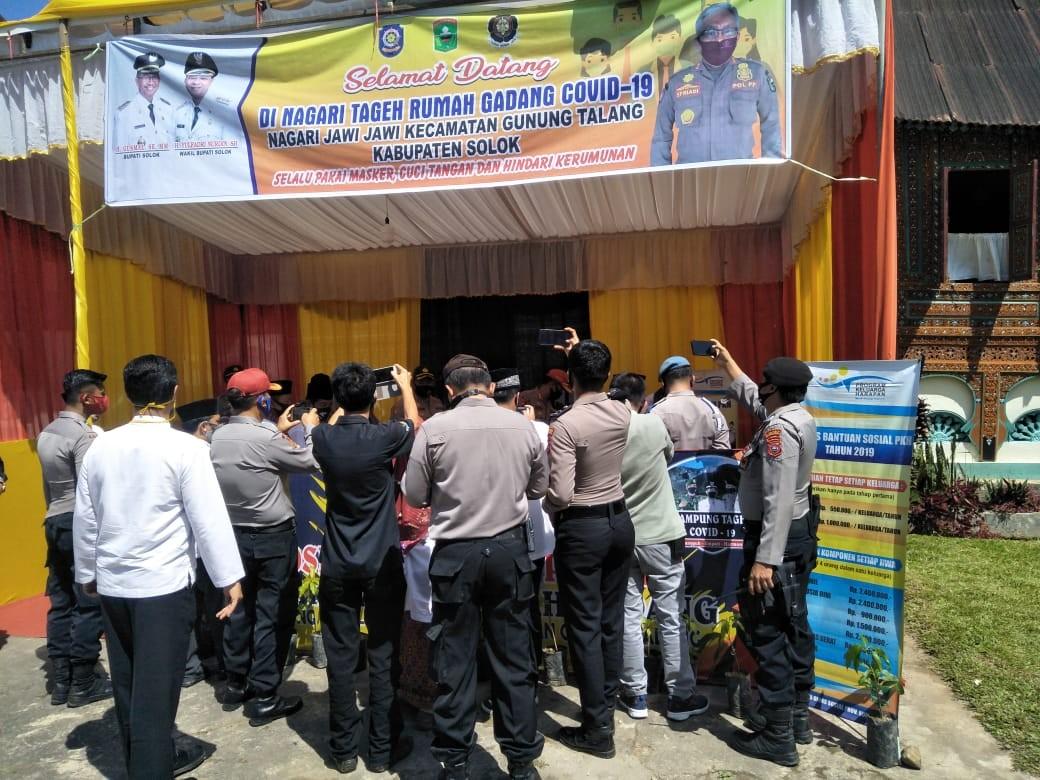 Kunjungan Tim Monitoring Polda Sumbar ke Posko Ketahanan Pangan Nagari Tageh Rumah Gadang di Nagari