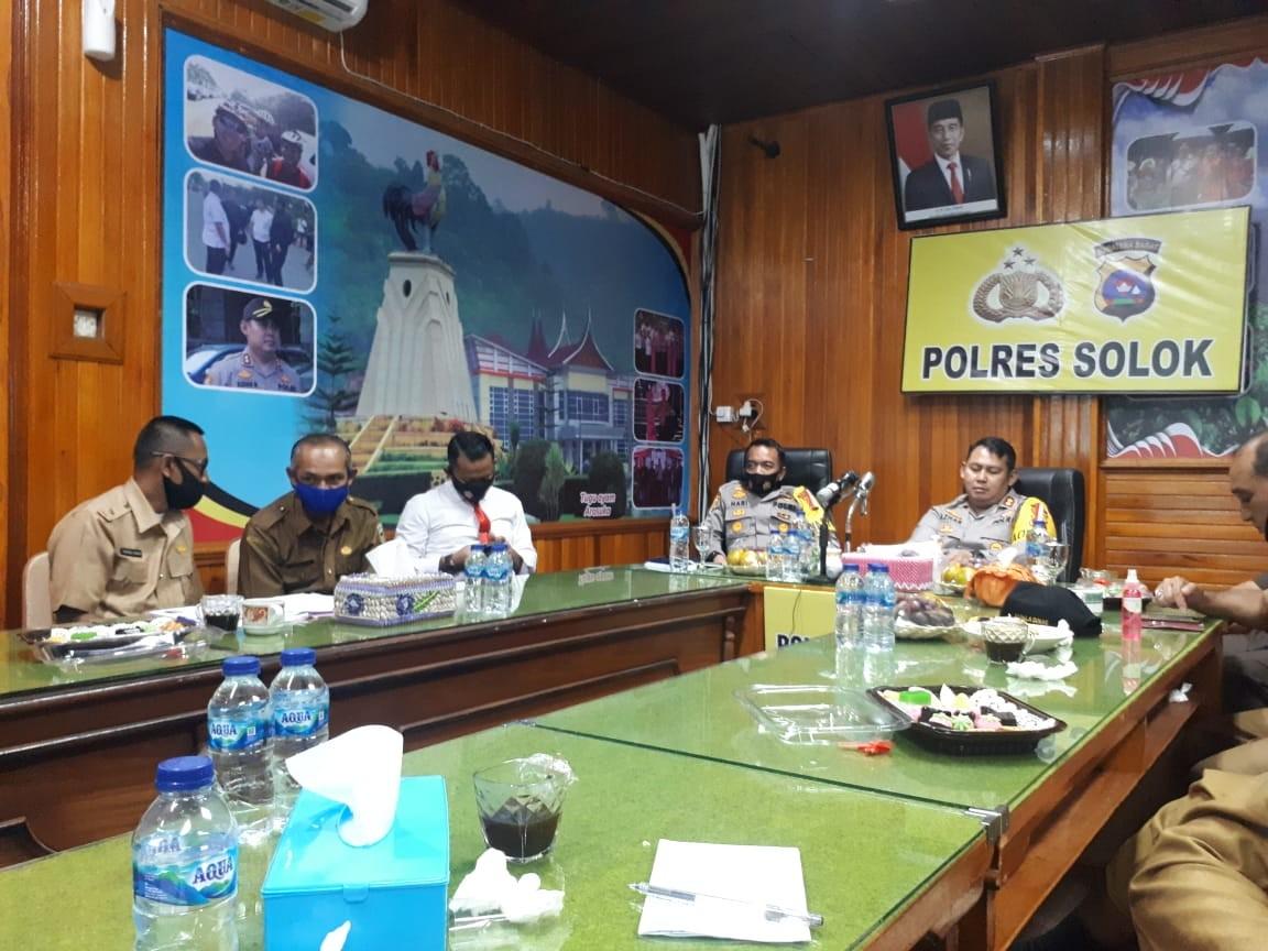Dalam Rangka Mengikuti Vicon Rakor Sinergi Pengawalan Program Pemulihan Ekonomi Nasional di Polres S