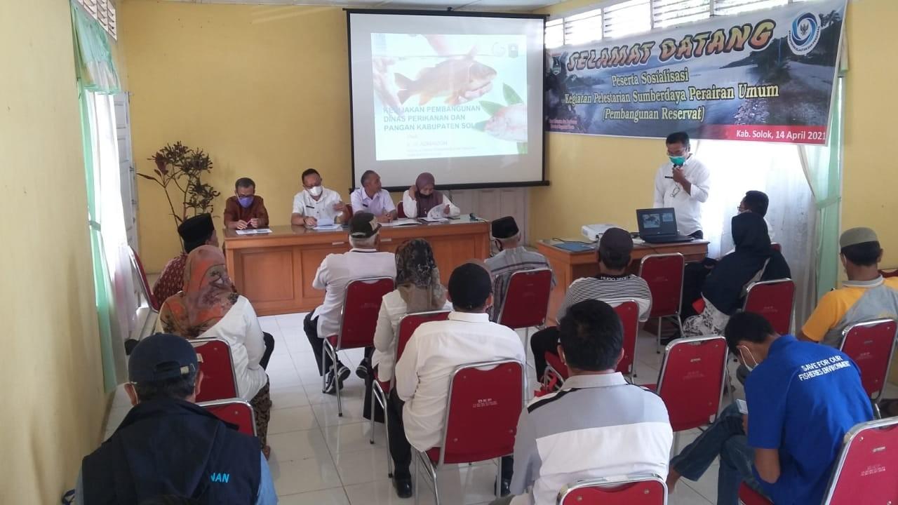Sosialisasi kegiatan pelestarian sumber daya perairan umum (Pembangunan Reservaat) Singkarak 14 Apri